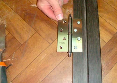 Как врезать петли в межкомнатную дверь
