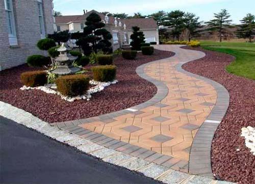 Фото садовые дорожки из тротуарной плитки